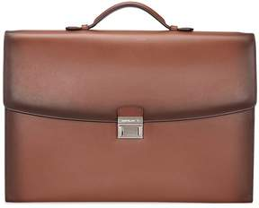 Montblanc Meisterstuck Single Gusset Briefcase- Brown