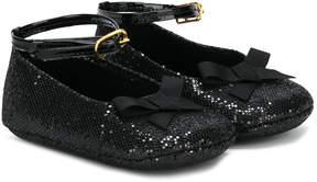 Pépé glitter detail crib shoes