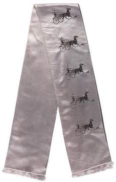 Hermes Silk Jacquard Carriage Stole