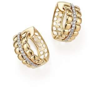 Bloomingdale's Diamond Hoop Earrings in 14K Yellow Gold, .20 ct. t.w.