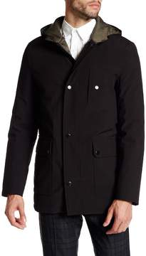 Kenneth Cole New York Front Zip Hooded Jacket