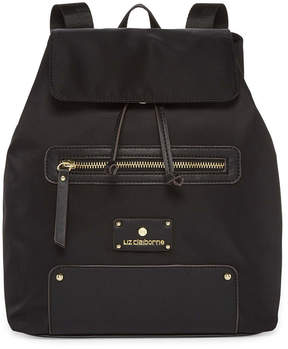 Liz Claiborne Nylon Flap Backpack