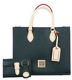 Dooney & Bourke As Is Leather Janine Satchel - ONE COLOR - STYLE
