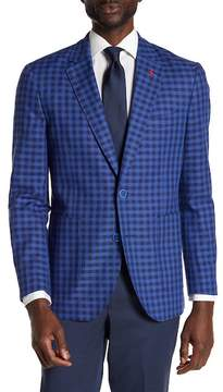 Tailorbyrd Banan Checkered Notch Collar Long Sleeve Stretch Fit Jacket