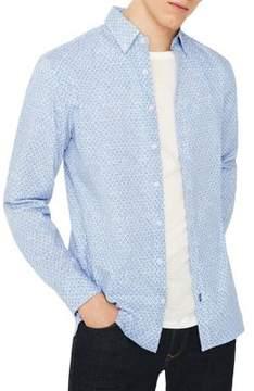 MANGO Floral Slim-Fit Cotton Button-Down Shirt