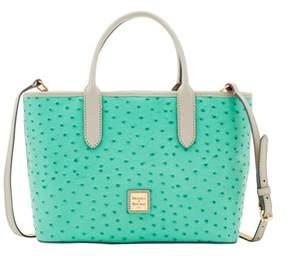 Dooney & Bourke Ostrich Brielle Top Handle Bag. - MINT LIGHT GREY - STYLE