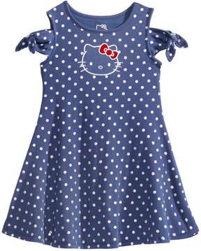 Hello Kitty Cold Shoulder Dot-Print Dress, Toddler Girls