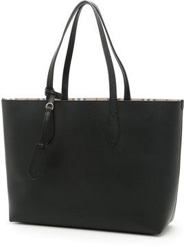 Burberry Medium Reverse Shopping Bag - BLACK|NERO - STYLE