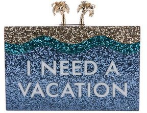 Kate Spade I Need A Vacation Clutch w/ Tags - BLUE - STYLE