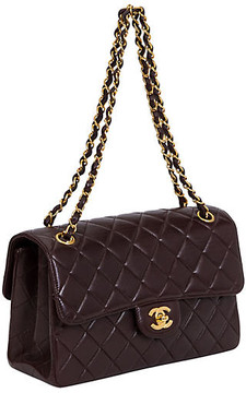 One Kings Lane Vintage Chanel Brown Double-Sided Flap Bag - Vintage Lux