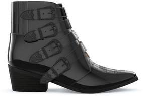 Toga Pulla four buckle western boots