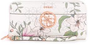 GUESS Kamryn Floral Large Zip-Around Wallet