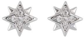 Bony Levy 18K White Gold Diamond Star Shape Stud Earrings