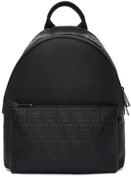 Fendi Black Embossed Signature Backpack