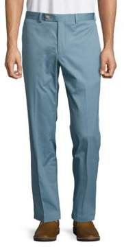 Lauren Ralph Lauren Flat Front Cotton Dress Pants