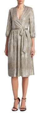 Alice + Olivia Katina Gathered Midi Dress