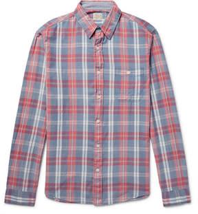 Faherty Seaview Checked Slub Cotton Shirt