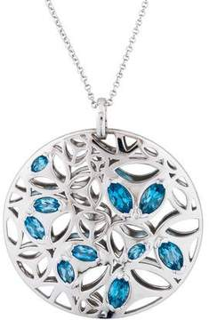 Di Modolo Blue Topaz Medallion Pendant Necklace
