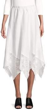 Context Handkerchief Lace-Hem A-Line Skirt