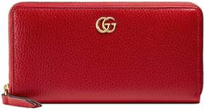 Gucci Leather zip around wallet - HIBISCUS RED LEATHER - STYLE