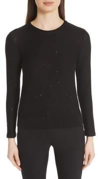 Akris Sequin Knit Silk & Cotton Blend Sweater