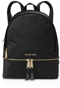 MICHAEL Michael Kors Rhea Zip Large Nylon Backpack - BLACK/GOLD - STYLE