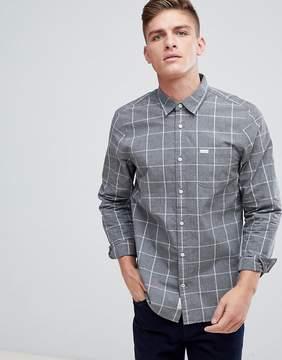 Jack Wills Blanford Regular Fit Windowpane Check Shirt In Charcoal