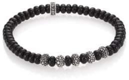 King Baby Studio Black Onyx & Sterling Silver Bead Bracelet
