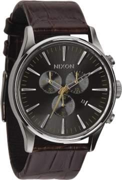 Nixon The Sentry A405-1887 Brown/Grey Analog Quartz Men's Watch
