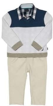 Nautica Baby Boy's Three-Piece Sweater Set