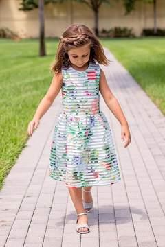 Halabaloo Eyelet Scuba Dress