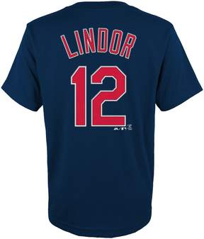 Majestic Boys 4-18 Cleveland Indians Francisco Lindor Player Name and Number Tee