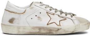 Golden Goose Deluxe Brand White Skate Superstar Sneakers