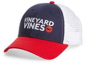 Vineyard Vines Men's Americana Trucker Cap - Blue