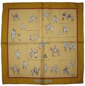 One Kings Lane Vintage HermAs Voyage au Niger Pochette Scarf - The Emporium Ltd.