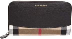 Burberry House Check Zip Around Wallet - NERO - STYLE