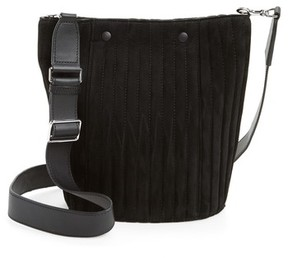 Steven Alan Rhys Quilted Suede Bucket Bag - Black