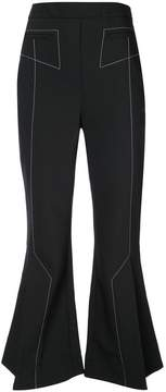 Ellery cropped trousers with flare