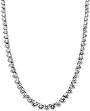 Arabella Sterling Silver Necklace, Swarovski Zirconia Necklace (53 ct. t.w.)