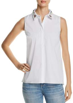 T Tahari Wynne Sleeveless Embellished Shirt