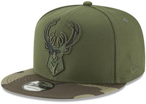 New Era Milwaukee Bucks Operation Camo 9FIFTY Snapback Cap