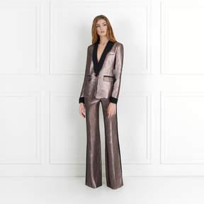 Rachel Zoe Bruno Mauve Metallic Jacquard Pants