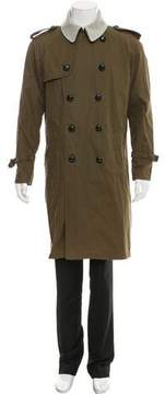 Band Of Outsiders Felt-Accented Double-Breasted Coat