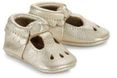 Freshly Picked Baby's Platinum Mary Jane Leather Shoes