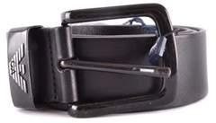 Armani Jeans Men's Black Leather Belt.