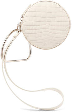 Off-White Gu_de - Circle Croc-effect Leather Clutch