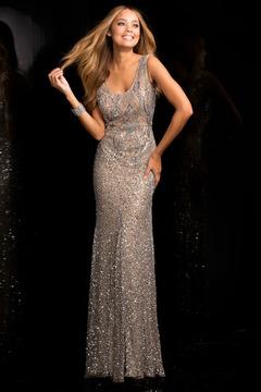 SCALA - 48724 Low Scoop Back Prom Dress
