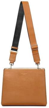 Aspinal of London Small Ella Hobo In Smooth Tan With Black Tan Strap