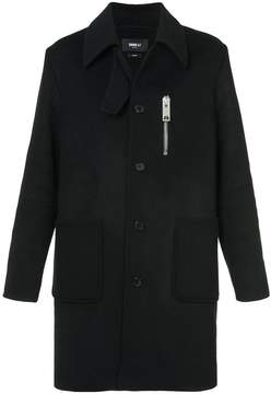 Yang Li zip-detail fitted coat