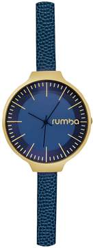 RumbaTime Women's Orchard Leather Midnight Blue Dial Watch